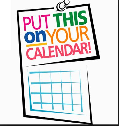 calendar reminder for the 2018-19 Academic calendar