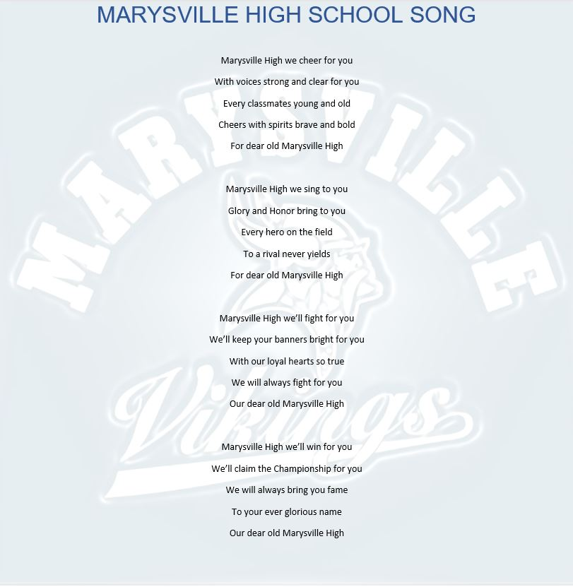 Marysville Viking High School Song -Image